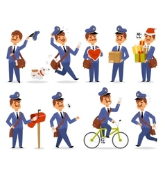 Postman character set vector image