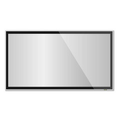 smart tv mock-up tv screen led tv hanging on the vector image