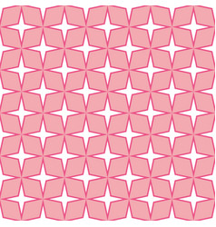 stars shape pattern dark pink background vector image