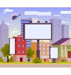 An advertising billboard vector