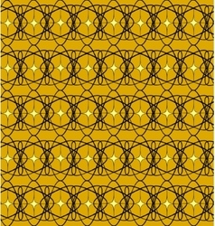 Black lace pattern with yellow squares vector image vector image