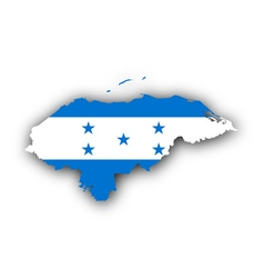Map and flag of honduras vector