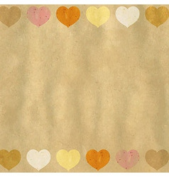 Retro Heart Background vector image vector image