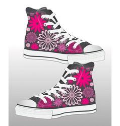 retro sneaker shoe design vector image