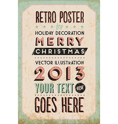 Retro Vintage Happy New Year Background vector image