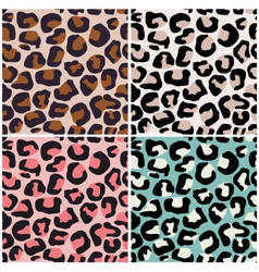 seamless africa animal print vector image vector image