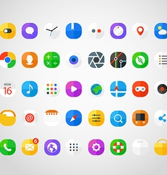 Different modern smartphone application icons set vector image
