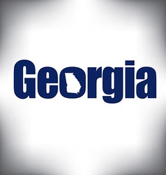 Georgia state graphic vector image vector image