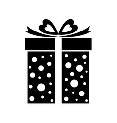 gift box icon present isolated on white vector image
