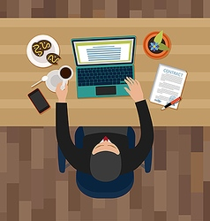 Office man having a break vector image