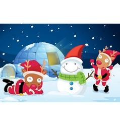 Reindeer Party vector image vector image