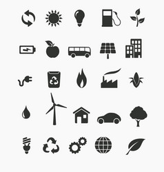 renewable energy icon set vector image