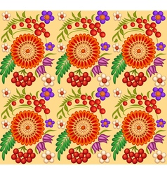background painted with flowers and berries vector image