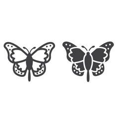 butterfly line and glyph icon easter and holiday vector image