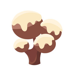 chocolate tree covered with white icing colorful vector image vector image