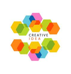 Educational center or business hub creative idea vector