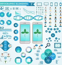 Infographic elements doctor and patient icons vector image