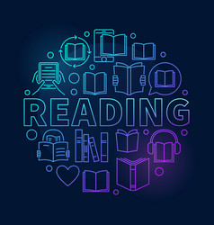 reading round colorful vector image vector image