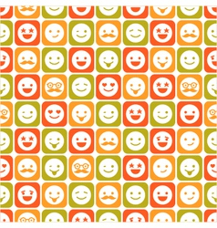 seamless pattern of color smile different emotions vector image