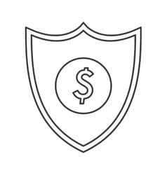 shield dollar sign icon vector image vector image