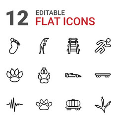 12 track icons vector