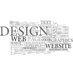 A beginners guide to web page design text word vector