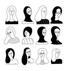 A multicultural set women feces vector
