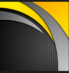 Abstract corporate waves on black striped vector