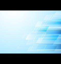Abstract rectangles in soft blue background vector