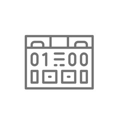 american football scoreboard game equipment line vector image