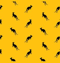 Animal seamless pattern background with kangaroo vector