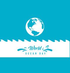 Background world ocean day graphic design vector