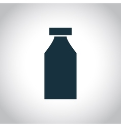 Bottle single icon vector image