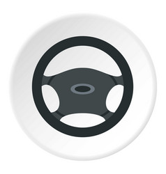 car rudder icon circle vector image