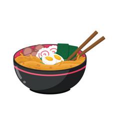 Cartoon japanese ramen vector