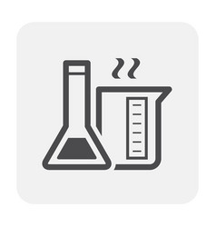chemical lab icon vector image