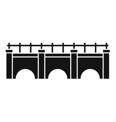 city bridge icon simple style vector image