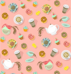 City Cafe Pattern vector image