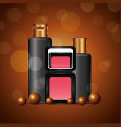 Cosmetics makeup related vector
