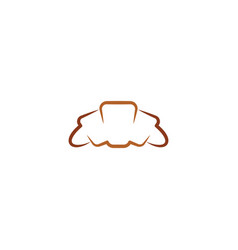 croissant icon design logo symbol element vector image