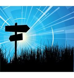 crossroads vector image