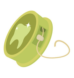 Dental floss icon cartoon style vector
