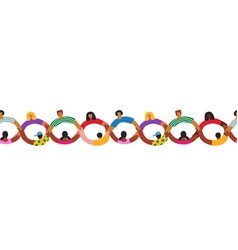 diverse people group holding hands together vector image