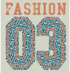 Fashion college vector image