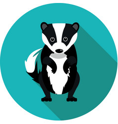Flat icons badger vector