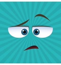 Flat of cartoon face design vector image