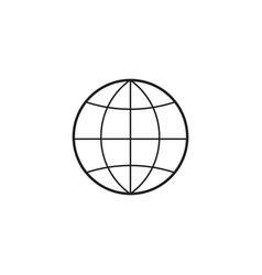 Globe line icon outline vector