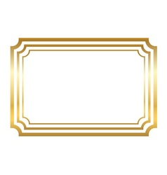 Gold frame Beautiful simple golden style vector