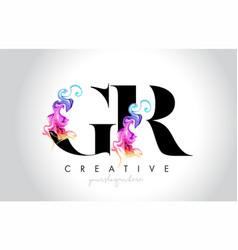 Gr vibrant creative leter logo design vector