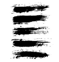 grunge dry brush set hand drawn vector image